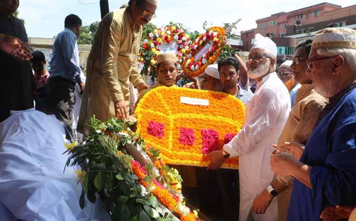 কুমিল্লায় অধ্যাপক মোজাফফর আহমদের জানাজা সম্পন্ন
